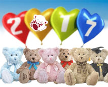 Wishing You all a happy New Year from My Birthday Teddy