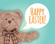 Spread hope, faith and love all around you this Easter. Happy Easter from  My Birthday Teddy !
