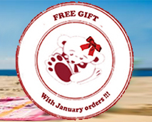 Every order placed in January comes with a free gift