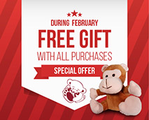 Every order placed in February comes with a free gift.